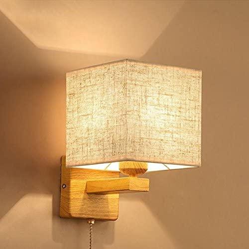 NZDY Lámpara de pared de lectura de luces de pared, dormitorio, cabecera, simple, moderno, hotel, sala de estar, estudio, pared llevada con interruptor,C