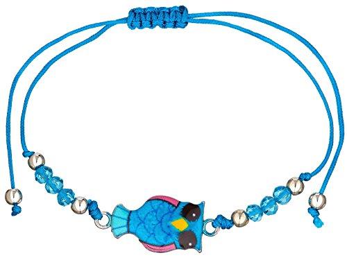 scarlet bijoux |Armband mit Anhänger Eulen Textilband grössenverstellbar