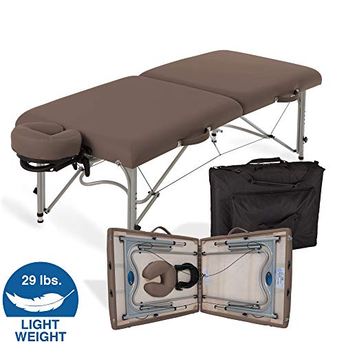 EARTHLITE Portable Massage Table Package Luna - Lightweight, Aluminum Frame (29lb) incl. Face Cradle & Carry Case (up to 600lb)