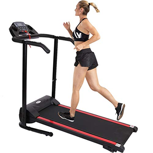Price comparison product image Folding Treadmill Electric Device Holder Shock Absorption Incline Walking Jogging Machine Running Home Gym