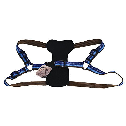 Coastal - K-9 Explorer - Reflective Adjustable Padded Dog Harness, Sapphire, 1' x 26'-38'