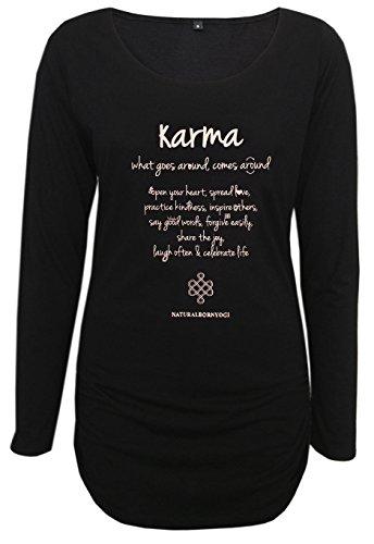 Natural Born Yogi Damen Yoga Langarm Shirt Karma