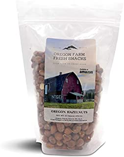 Oregon Farm Fresh Snacks - Hand Roasted and Salted Oregon Hazelnuts (16 oz)