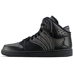 Nike Men's Jordan 1 Flight 4 Basketball Shoes, Black (Negro), 7.5 UK