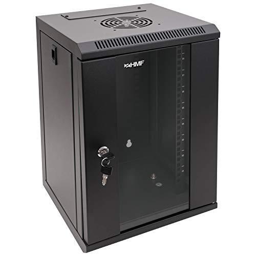HMF 63309-02 Serverschrank 10 Zoll, 9 HE, Netzwerkschrank, Wandschrank, 10