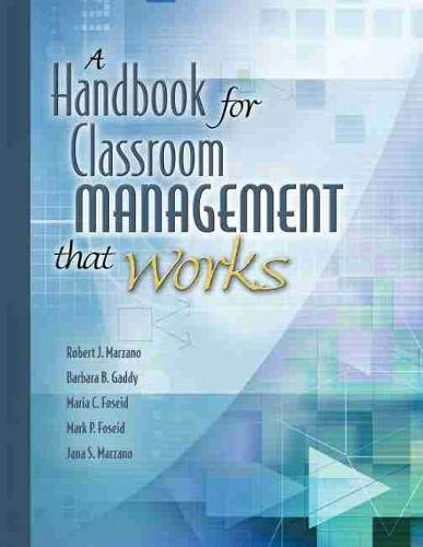 Compare Textbook Prices for A Handbook for Classroom Management that Works Illustrated Edition ISBN 9781416602361 by Marzano, Dr Robert J,Gaddy, Barbara B