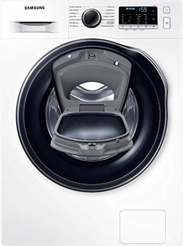 Samsung SLIM WW8NK52K0VW/EG Waschmaschine / 8 kg / 1200 U/min / A+++ / Weiß / SchaumAktiv / AddWash / Hygiene-Dampfprogramm