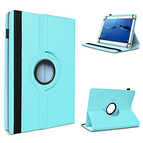 UC-Express Schutzhülle kompatibel für Huawei MediaPad T1 T2 T3 7.0 aus Kunstleder Hülle Tablet Tasche Standfunktion 360 Drehbar Cover Universal Hülle, Farben:Hellblau