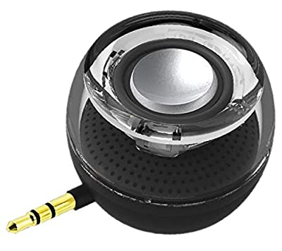 Leadsound Portable Speaker, Crystal 3W 27mm 8Ω Mini Wireless Speaker with 3.5mm Aux Audio Jack Plug in Clear Bass Micro USB Port Audio Dock for Smart Phone, for iPad, Computer (Black) by Leadsound