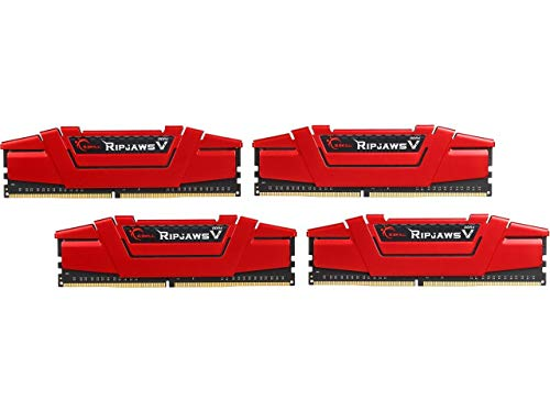 G.SKILL 32GB(4x8GB) Ripjaws V DDR4 3200 (PC4-25600) 288-Pin Desktop Memory Model F4-3200C14Q-32GVR