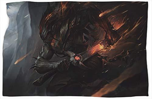 Yasuo Nightbringer League Legends - Manta cómoda con estampado de leyendas, súper suave, cálida y cómoda, 101,6 x 127 cm