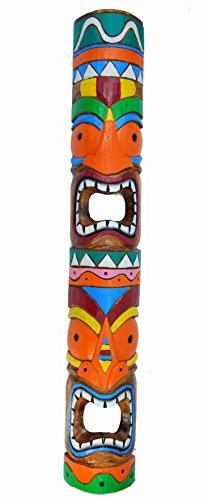 Interlifestyle Tiki - Máscara de pared (100 cm, madera), diseño de hawaiano Maui