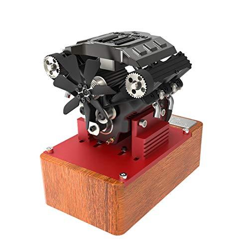 POXL Toyan Motor Bausatz, Viertaktmotor RC Engine 4 Zylinder Methanol Motor für RC Auto Boot Flugzeug Modell FS-V400A