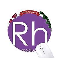 化学元素周期表遷移金属ロジウムRh クリスマスツリーの滑り止めゴム形のマウスパッド