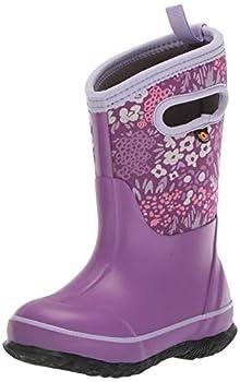 BOGS Kids Classic High Waterproof Insulated Rubber Neoprene Rain Boot Big Nw Garden-Violet 10 US Unisex Toddler