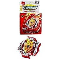 ML Bey Burst Blade con lanzadores de Mano peonza Juguete con Lanzador de Mano Espada Bey (Rojo)