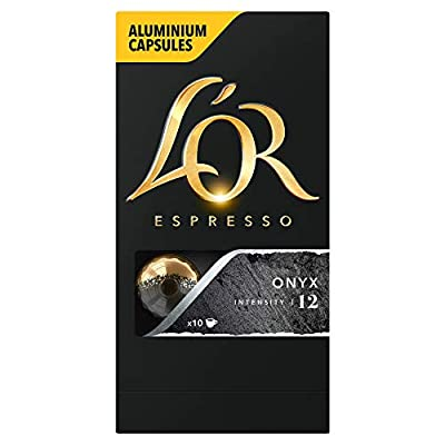 L'OR Espresso Onyx - Intensity 12 - Nespresso Compatible Coffee Capsules (Pack of 10, 100 Capsules in Total)