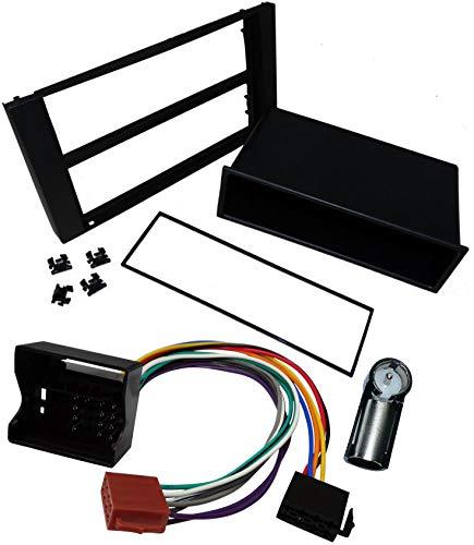 Aerzetix - Kit Autoradio Adapter Radio Blende Autoradio Rahmen Adapter Schwarz +1DIN ISO-Konverter - Adapter - Kabel Radioadapter