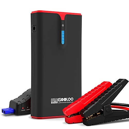 GOOLOO 1500A Peak SuperSafe Car Jump Starter (up to 8.0L Gas, 6.0L Diesel Engine) with Quick Charge and Type C In & Out Port, 12V Auto Battery Booster, Portable Power Pack for Cars, Trucks, SUV