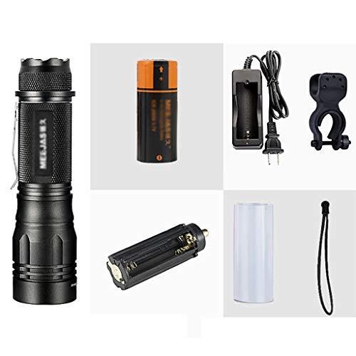 YATONG Lampe Torche Lampes de Poche Portables avec Batteries Rechargeables 18650/26650 avec 5 Modes Résistantes à l'eau pour Le Camping, la Randonnée, Le Vélo en Plein Air, L'urgence