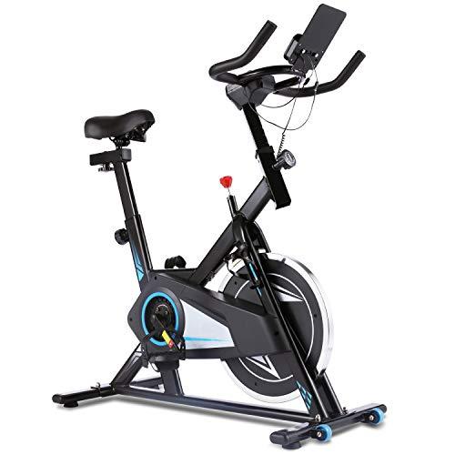 ANCHEER Ergometer Heimtrainer Fahrrad, Heim Sitzfahrrad F-Bike Testsieger,Multifunktionaler Beintrainer X-Bike 120 kg Belastbar,Cyclette mit APP-Steuerung, Herzfrequenz, LCD-Monitor (schwarz)