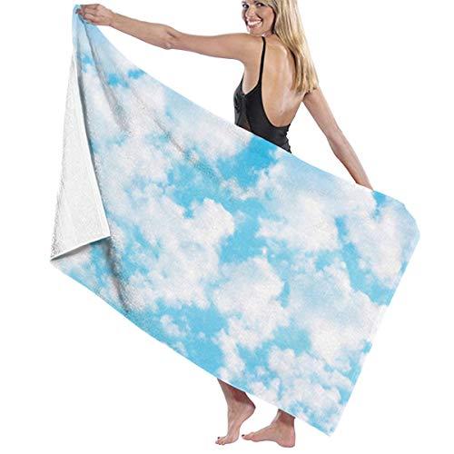 Clouds Bcn 100% türkische Baumwolle Mikrofaser Badetuch Decke super saugfähig leicht Handtuch für Strand, Pool, Spa, Bad, Schwimmen, Reisen, Übergröße 81,3 x 132 cm