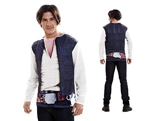 Disfraz Camiseta de Star Wars Han Solo Original de Carnaval para Hombre S de Microfibra - LOLAhome