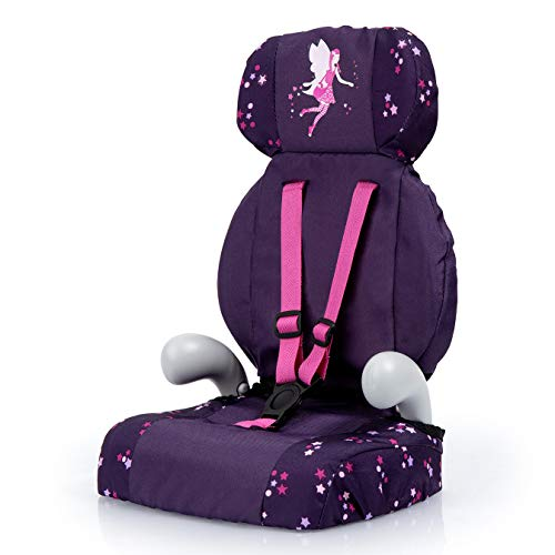 Bayer Design- Giocattolo, Seggiolino Auto, Accessori per Bambole con Cintura, Moderno, Colore Violet, avec fée et Motif, 67579AA