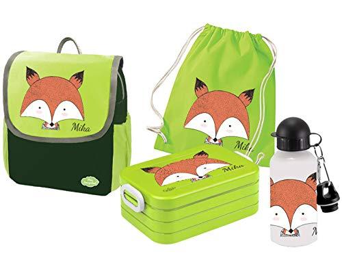 Mein Zwergenland - Brotdosen Sets für Kinder in Fuchs, Größe Set 5