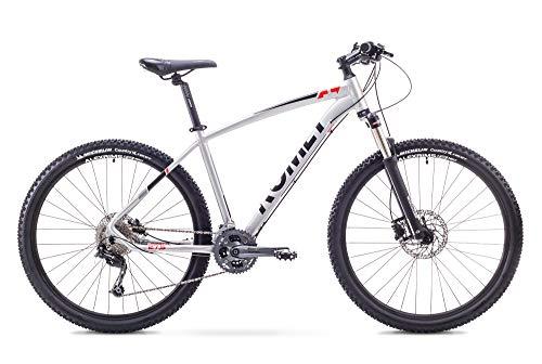 Romet RAMBLER 27,5 Zoll Mountainbike Fahrrad MTB Shimano 27 Gang Federung Scheibenbremse 18 Zoll Aluminium Rahmen Silber-Rot