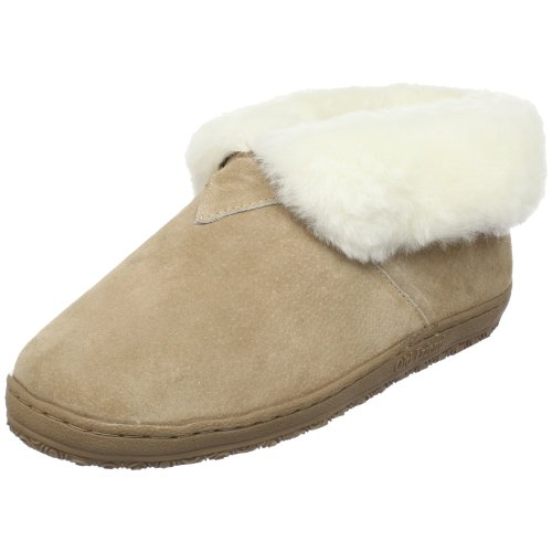 Old Friend Women's Bootee Wide Moccasin, Chestnut, 5 W US