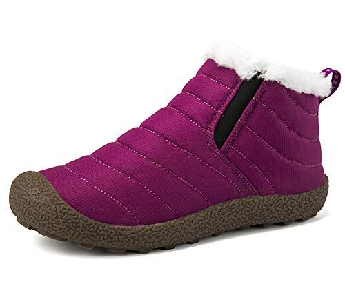 CCZZ Unisex warmer schnee stiefel stiefeletten pelzbesatz stiefel anti slip...