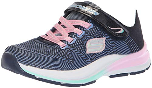 Skechers Girls' Double STRIDES-Duo Dash Trainers, Blue (Navy/Pink Nvpk), 13.5 (33 EU)