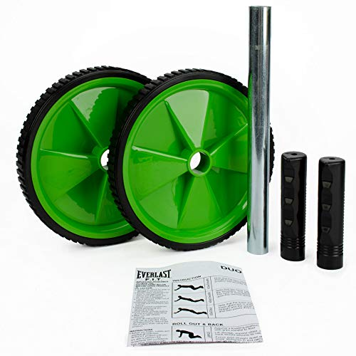 Everlast Ab Roller Wheel Shredder- Dual Wheel Stability with Training Guide