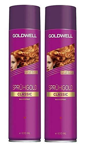 Goldwell Sprühgold Classic unisex, Haarspray Aktion 2x 600 ml = 1200ml