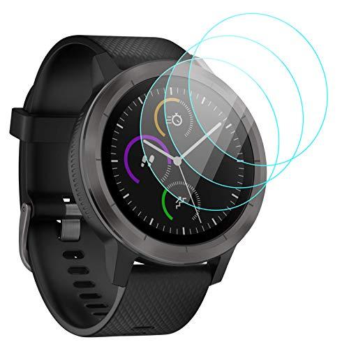 KIMILAR D'écran Compatible avec Garmin Vivoactive 3 Protecteur D'écran en Verre Trempé (PAS pour Vivoactive 3 Music) - Dureté de 9 H, une couverture complète, bubble gratuit, anti-fingerprint
