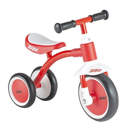 trike Neon Bike Scooter Mini Walker para niños de 18 a 36 meses, color rojo