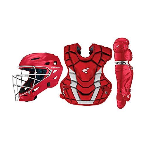 EASTON GAMETIME Baseball Catchers Equipment Box Set, Adult, Red
