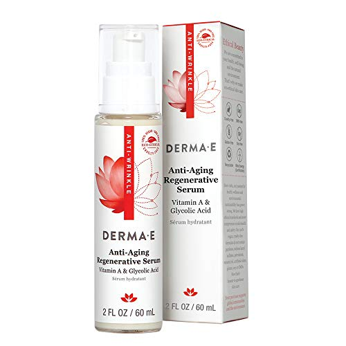 DERMA-E Anti-Wrinkle Night Serum with Vitamin A and Vitamin E (0486), Green Tea, 2 Fl Oz