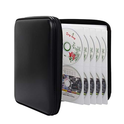 Bageek Porta CD Custodia Rigida Plastica 160 Capacità Porta DVD Borsa Custodia CD Auto Protettiva Portafoglio Organizer
