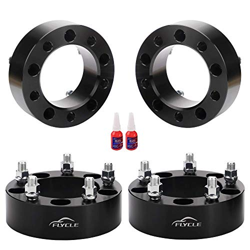 2 inch 5x5.5 Wheel Spacers for Ram 1500,4 PCS 5x5.5 to 5x5.5 Forged Wheel Spacers with Studs M14X1.5,Center Bore 108mm for 2012-2018 Ram 1500(5 Lug)