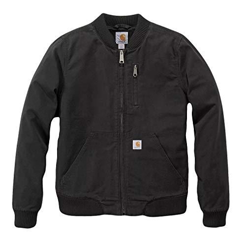 Carhartt Crawford Bomber Jacket Chaquetas, Black, S Regular para Mujer