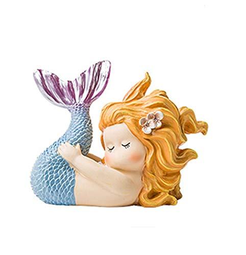 DANJIA Joyería Fresca pequeña Sirena nórdica muñeca de la Historieta de Escritorio Decoración Vivo Creativo de la decoración del Sitio