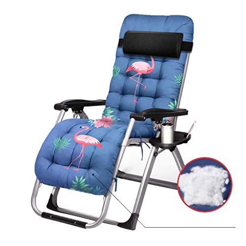 unknow Liegestuhl Lunch Break Chair Home Klappstuhl Verstellbarer Multifunktionsstuhl mit Getränkehalter und Matratze Verbreiterte Stuhllehne Lagergewicht 200 kg