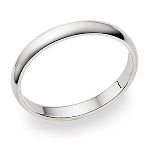 Metal Factory 3MM Sterling Silver High Polish Plain Dome Tarnish Resistant Comfort Fit Wedding Band Ring Sz 8