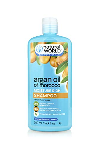 Natural World Moroccan Argan Oil Feuchtigkeit Rich Shampoo 500 ml