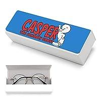 キャスパーフレンドリーな幽霊の赤いロゴ キャンバス シューズ 眼鏡ケース おしゃれ メガネケース 革 高級メガネケース クリーニングクロス メガネ 拭きクロス 収納袋付き