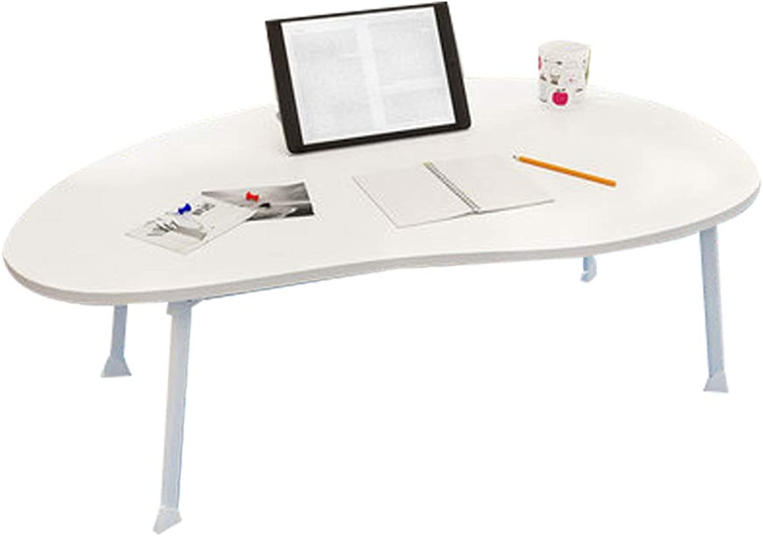 BLWX - Folding Table - Bed Table Folding Lazy Computer Table Home Simple Floating Window Table Dormitory Bed Student Writing Small Desk Folding Table (color   D)