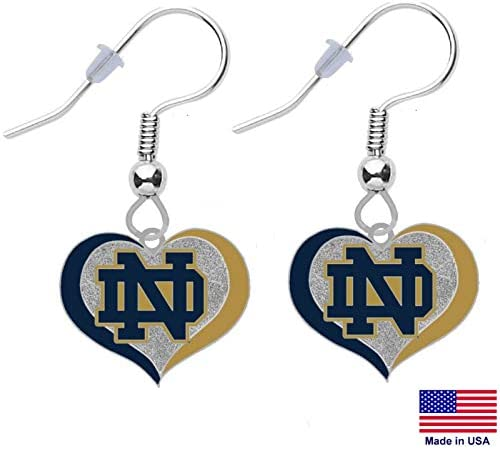 Fighting Irish ND Logo Enamel Sterling Silver Jewelry Small for Women//Girls Dayna Designs University of Notre Dame Heart Necklace