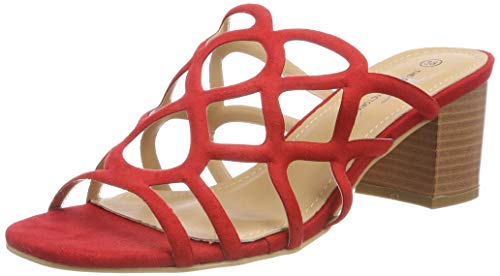 The Divine Factory Susanna, Mules Femmes, Rouge (Rouge 012), 38 EU